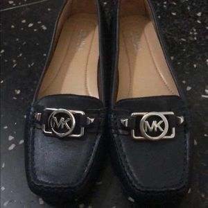 Black leather Michael kors loafers